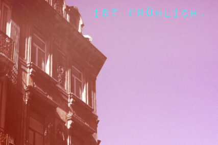 himmelblau, rosarot, frühlich